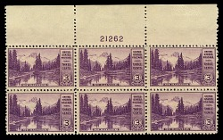 3c National Parks Mt. Rainer top plate block of six