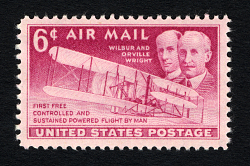 6c Wright Brothers single