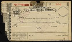 Postal money order
