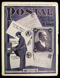 "Sheet music for the ""Postal March and Two Step"""