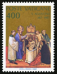 "400 lire ""Baptism of St. Augustine"" single"