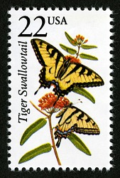 22c Tiger Swallowtail Butterfly single