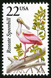 22c Roseate Spoonbill single