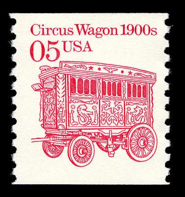5c Circus Wagon single