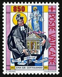 850 lire St. Giuseppe Benedetto Cottolengo Comforting the Sick single