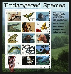 32c Endangered Species pane of fifteen