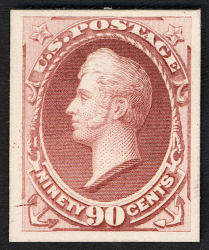 90c Commodore Oliver Hazard Perry card plate proof