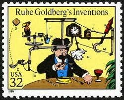 32c Rube Goldberg's Inventions single