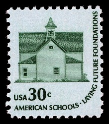 30c Morris Township School single