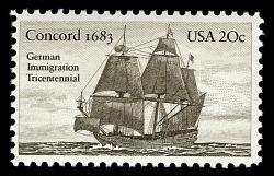 20c German Immigration Tricentennial single
