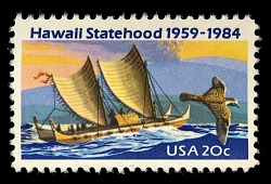 20c Hawaii Statehood single