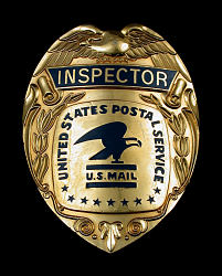 "Postal Inspector ""Raid"" badge"