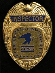 Postal inspector chest badge