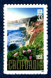 33c California Statehood 150th Anniversary single