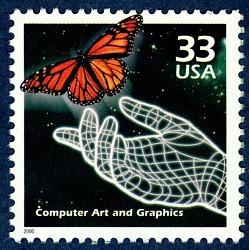 33c Computer Art and Graphics single