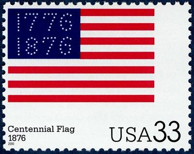 33c Centennial Flag single