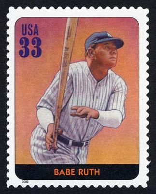 33c Babe Ruth single