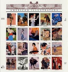 34c American Illustrators pane of twenty