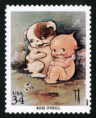 34c Kewpie and Kewpie Doodle Dog single