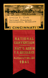 National Association of Post Office Mechanics convention badge