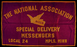 Special Delivery Messengers' Association banner