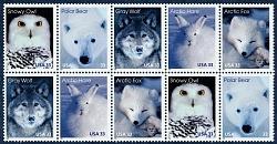 33c Arctic Animals pane of ten