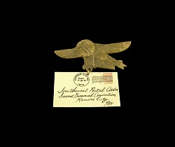 Southwest Postal Association convention badge