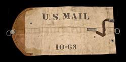 Railway mail catcher pouch