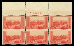 2c National Parks Grand Canyon top plate block of six