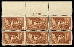 4c National Parks Mesa Verde top plate block of six