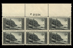 7c National Parks Acadia top plate block of six