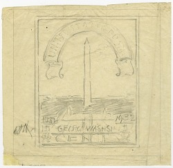 ½c Washington Bicentennial artist's preliminary sketch
