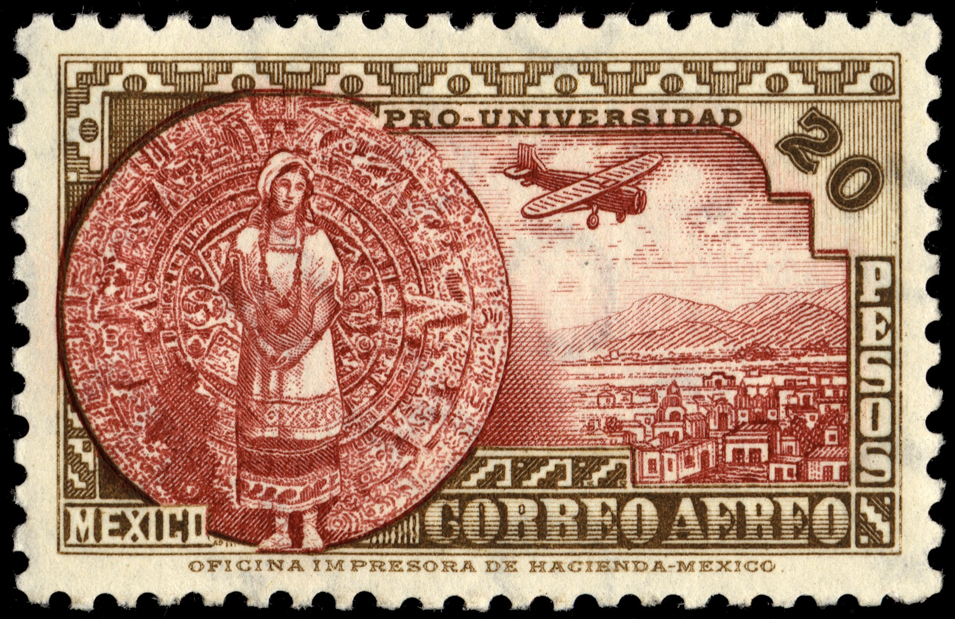 images for 20p Mexican Girl and Aztec Calendar Stone single