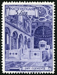 3 lire Basilica of St. Clement single