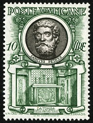 10 lire St. Peter and Tomb of the Apostle single