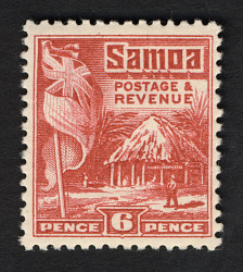 6p British Flag and Samoan House single