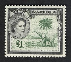 £1 Elephant Badge of Gambia single