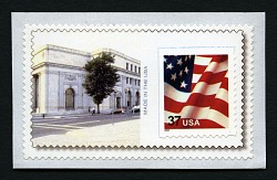 37c US Flag on National Postal Museum personalized backing single