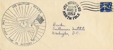 USS Nautilus handstamp event cover