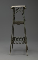 Plant stand, square, wrought design