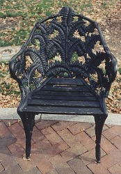 "Chair, arms, ""Fern"" pattern"
