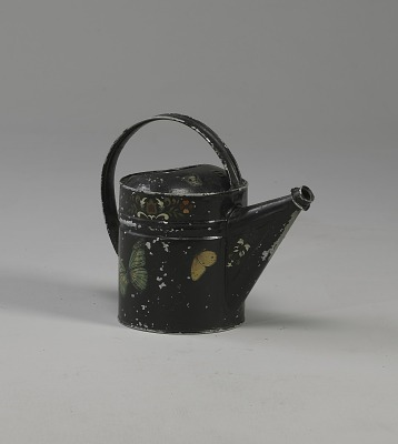 <I>Watering can with tole work</I>