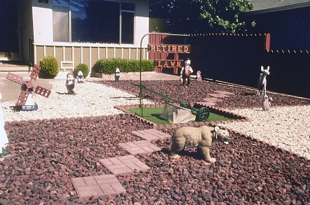 """Retired lawn"" in San Rafael, California, 1999"