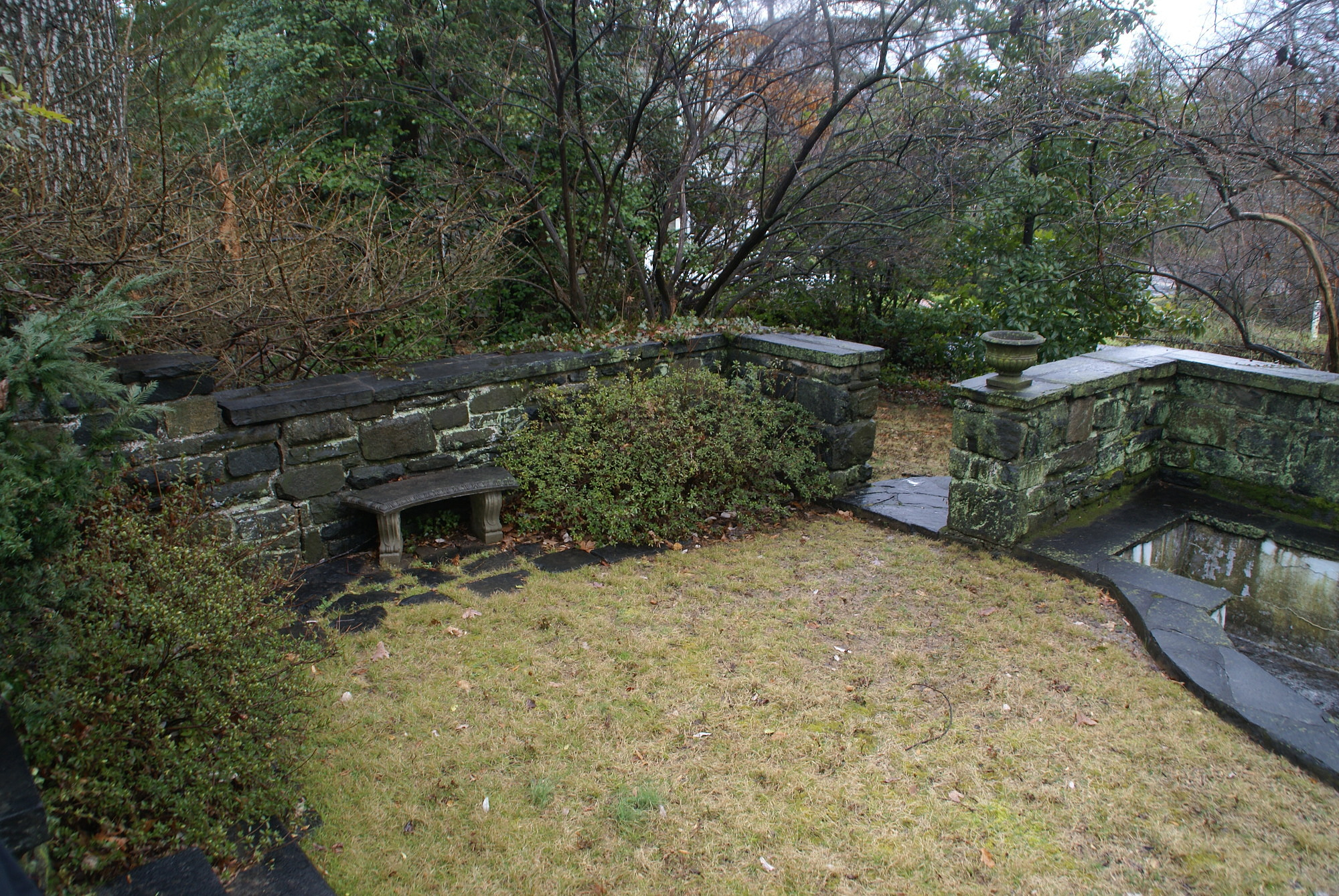 [Marsh Garden]: benches were part of the Greely design.