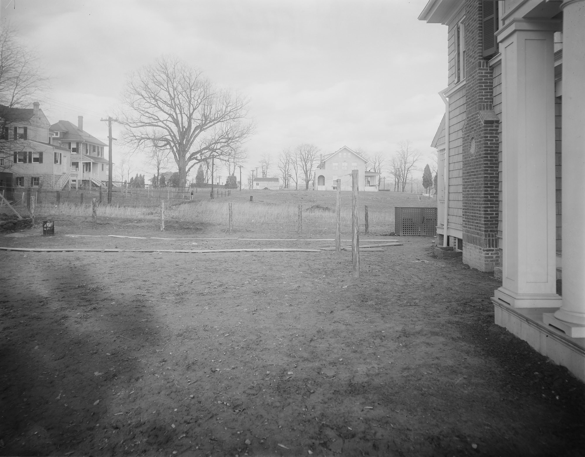 [Ogilby Garden]: looking toward adjacent properties, with back of house on right.