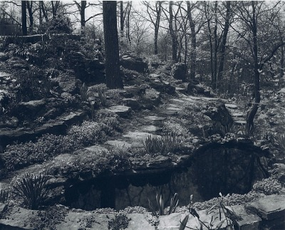 [Hillspoint] [digital image]: the reflecting pool and rock garden in the 1930s natural garden