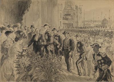 Inauguration de L'Exposition Internationale de Liege, en 1905