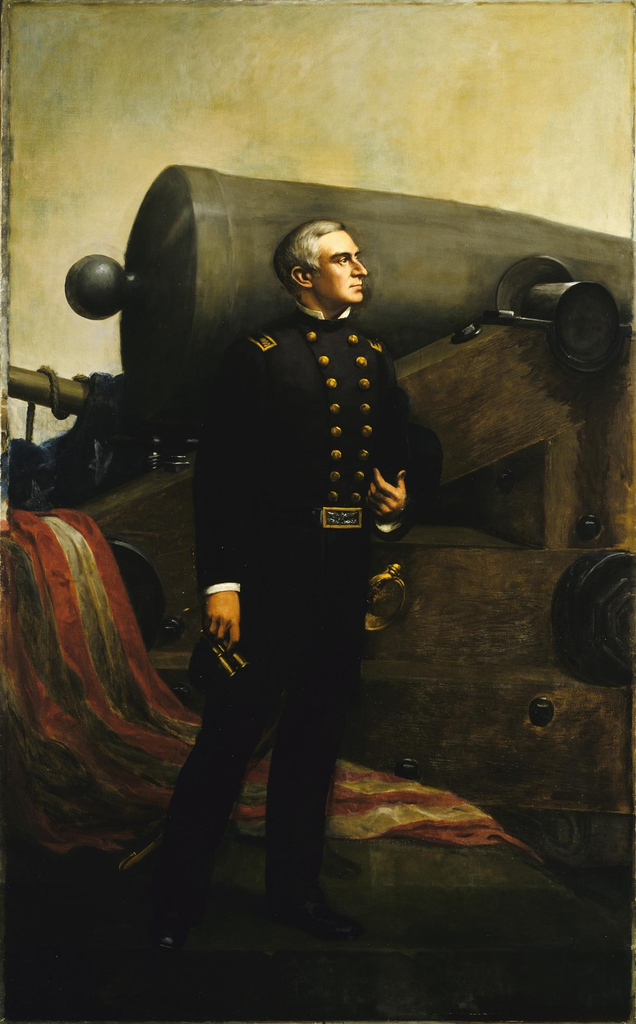 The First Gun at Fort Sumter (Major Robert Anderson)
