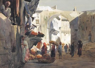 Street Scene in Ajmere