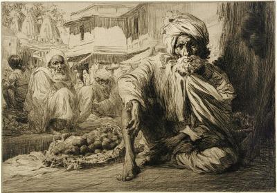 In the Bazaar, Bijapur